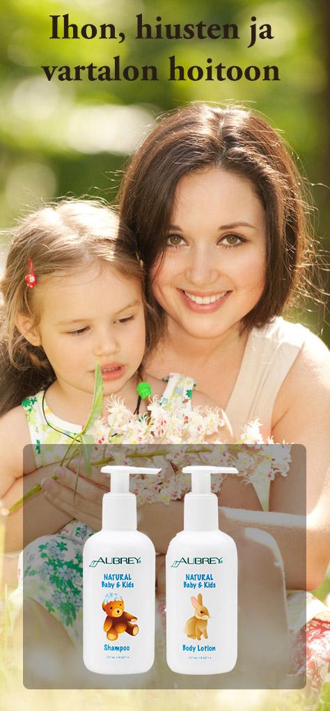 Luonnonmukaiset shampoot vartalovoiteet ja kylpysaippuat vauvoille ja pikkulapsille