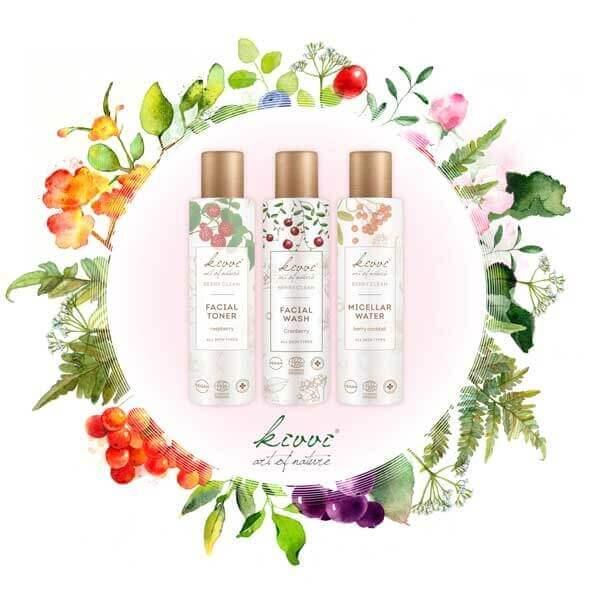 Kivvi Berry Clean sertifioitu kasvopuhdistuslinja kaikille ihotyypeille
