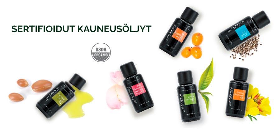 Aubrey sertifioidut kauneusöljyt tarjoavat luonnonmukaisia ratkaisuja ihon ja hiustenhoitoon